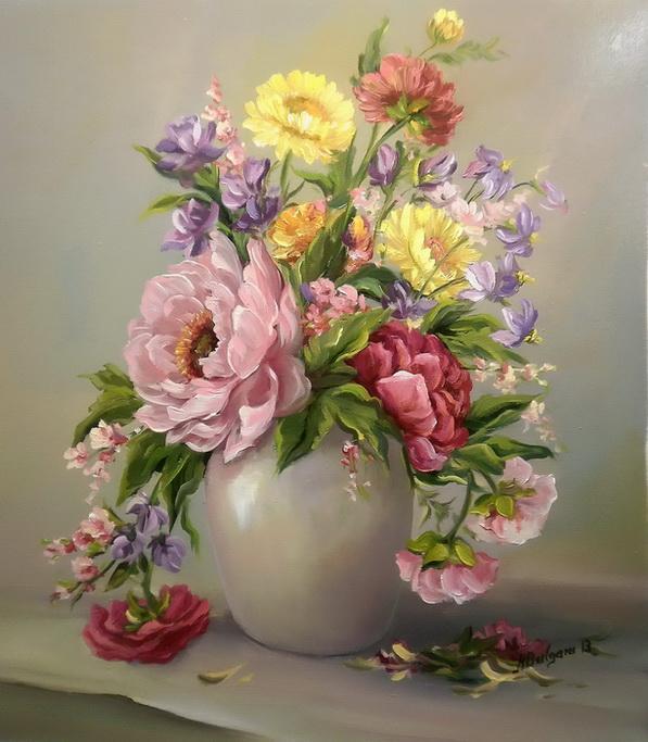 Picturi cu flori POEMUL PRIMAVERII