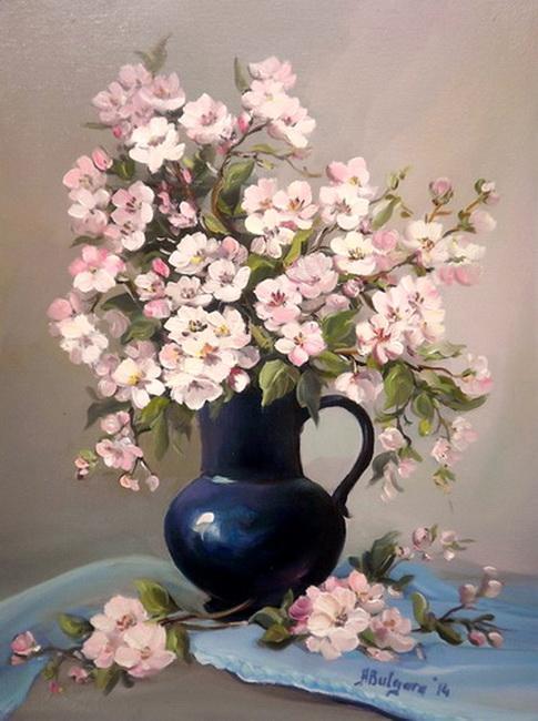 Picturi cu flori RAMURI CU PRIMAVARA