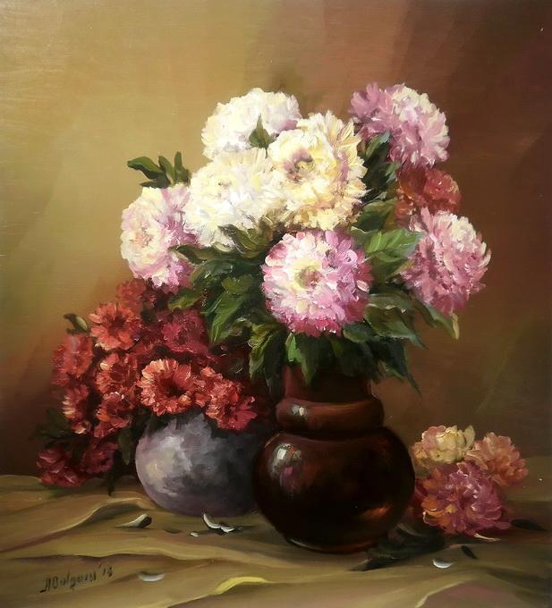 Picturi cu flori Regine pentru o toamna