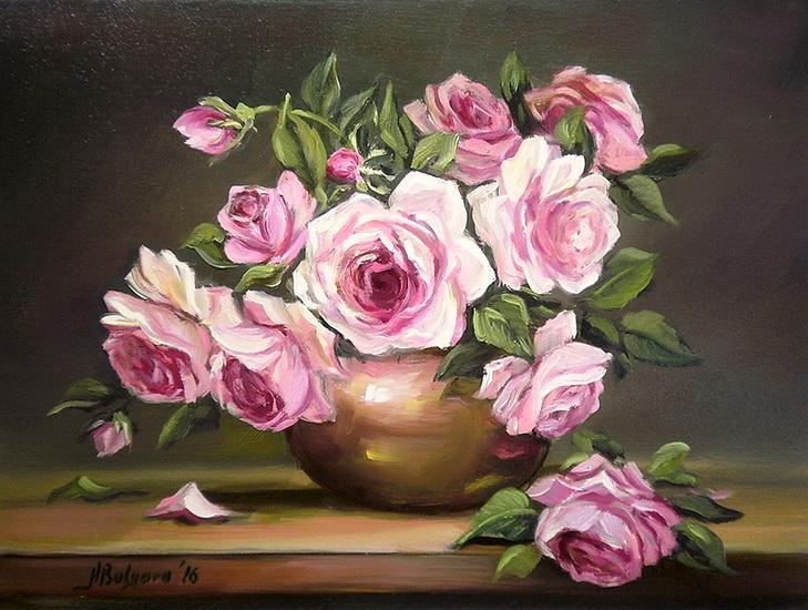 Picturi cu flori ROZE PARFUMATE