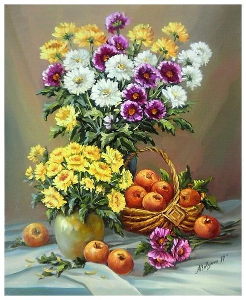Picturi cu flori SEPTEMBRIE IAR