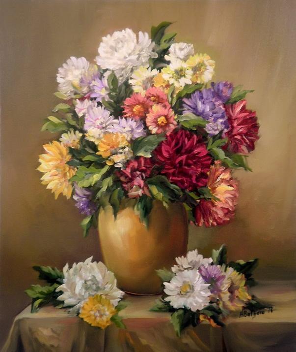 Picturi cu flori Toamna in culori