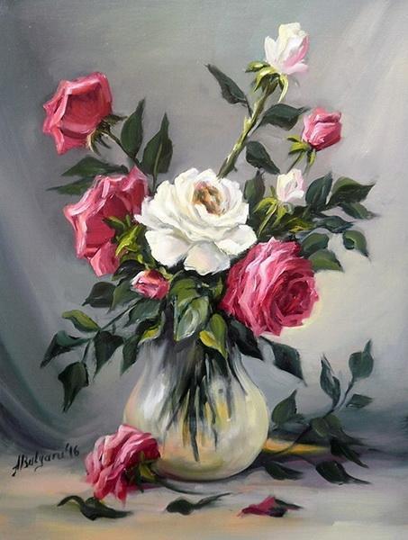 Picturi cu flori TRANDAFIRII PRIMAVERII (2)