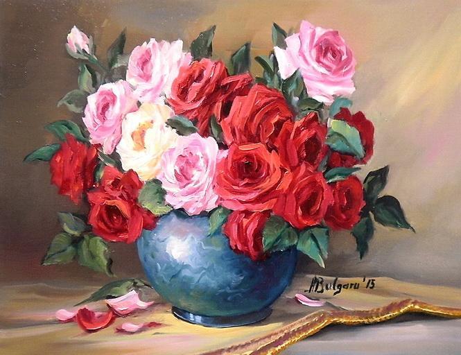 Picturi cu flori UN BUCHET ANIVERSAR