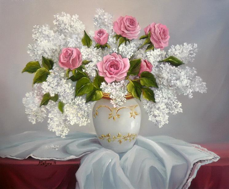 Picturi cu flori UN BUCHET DE PRIMAVARA