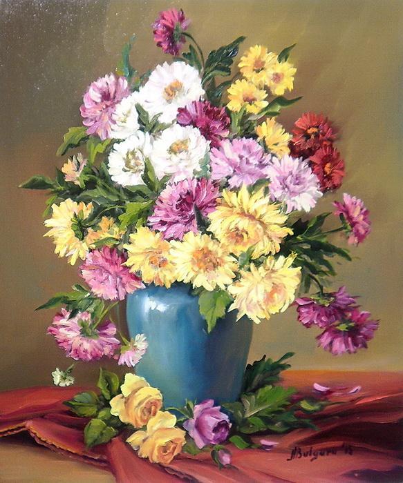 Picturi cu flori UN POEM TOAMNEI