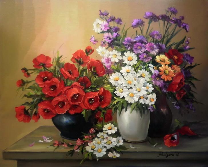 Picturi cu flori Vedete pentru o vara