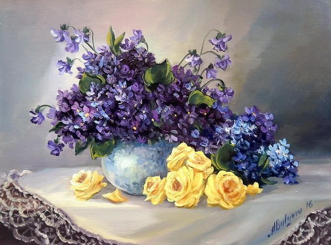 Picturi cu flori VEDETELE PRIMAVERII