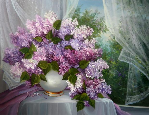 Picturi cu flori VIS DE PRIMAVARA