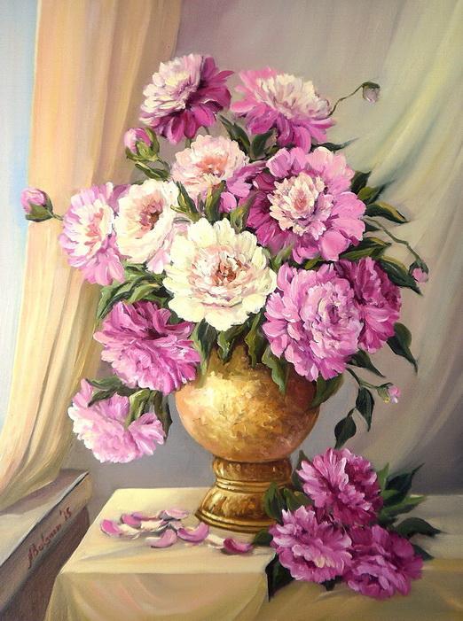 Picturi cu flori VIS INFLORIT IN PRIMAVARA