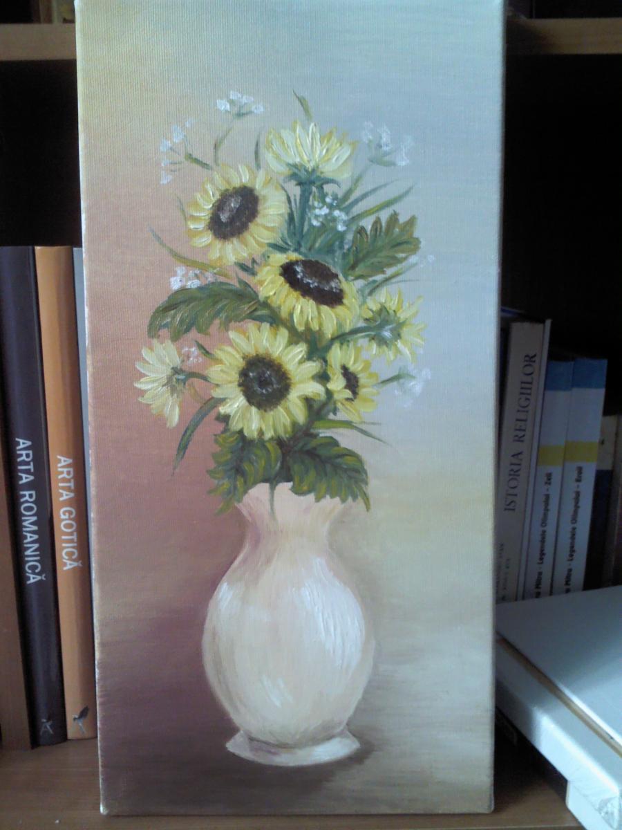 Picturi cu flori vis cu floarea soarelui