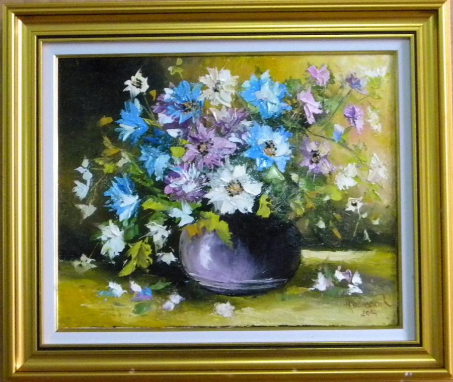 Picturi cu flori BOL CU FLORI DE TOAMNA