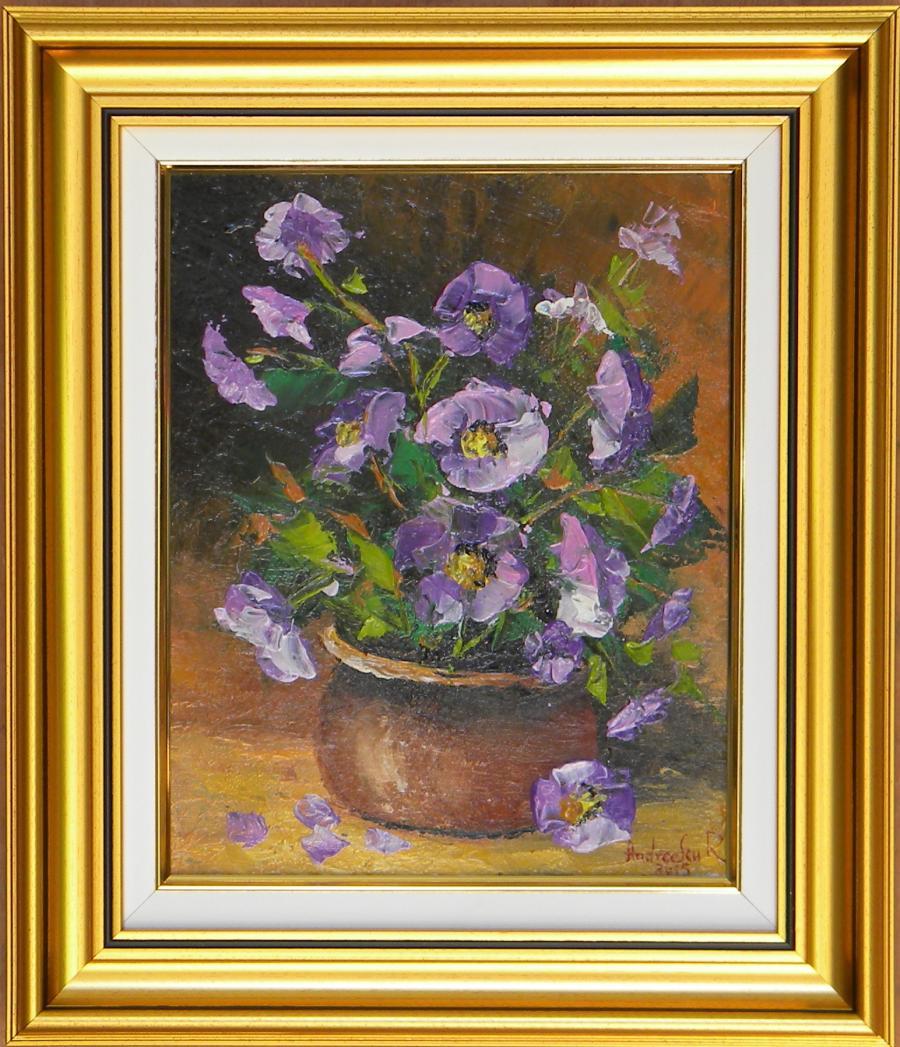 Picturi cu flori BOL CU FLORI MOV