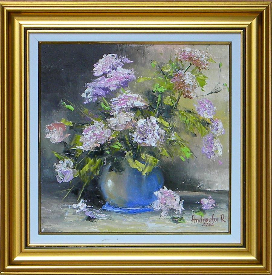 Picturi cu flori BOL CU GAROFITE