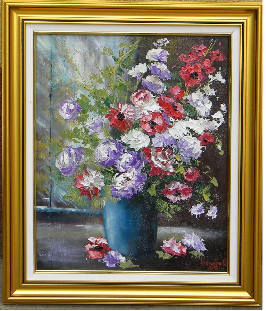 Picturi cu flori DIMINEATA FLORILOR