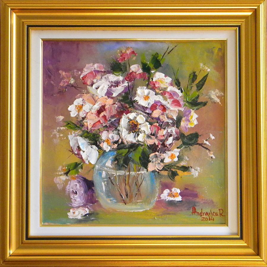 Picturi cu flori FLORI IN BOL DE STICLA