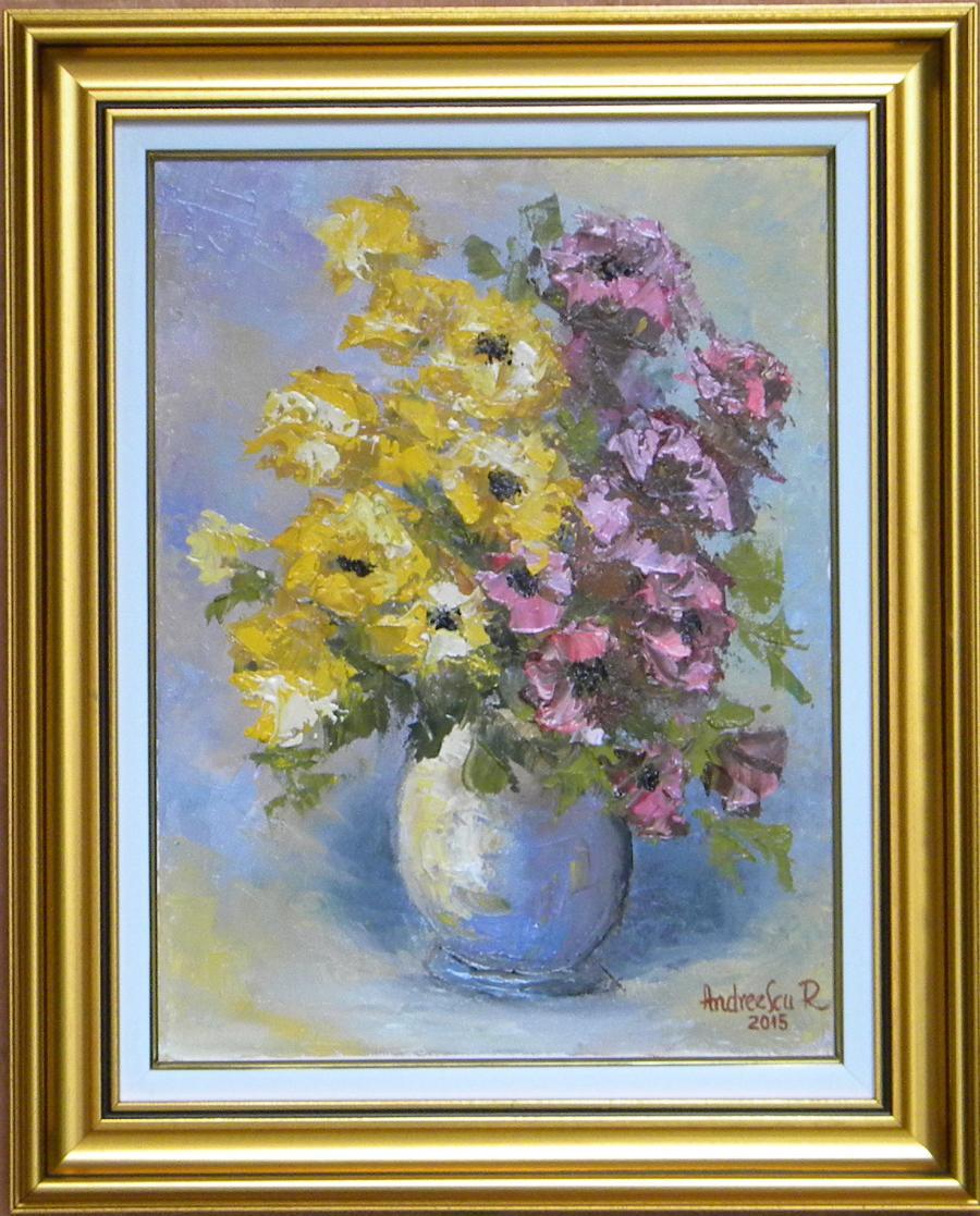 Picturi cu flori FLORI IN GLASTRA