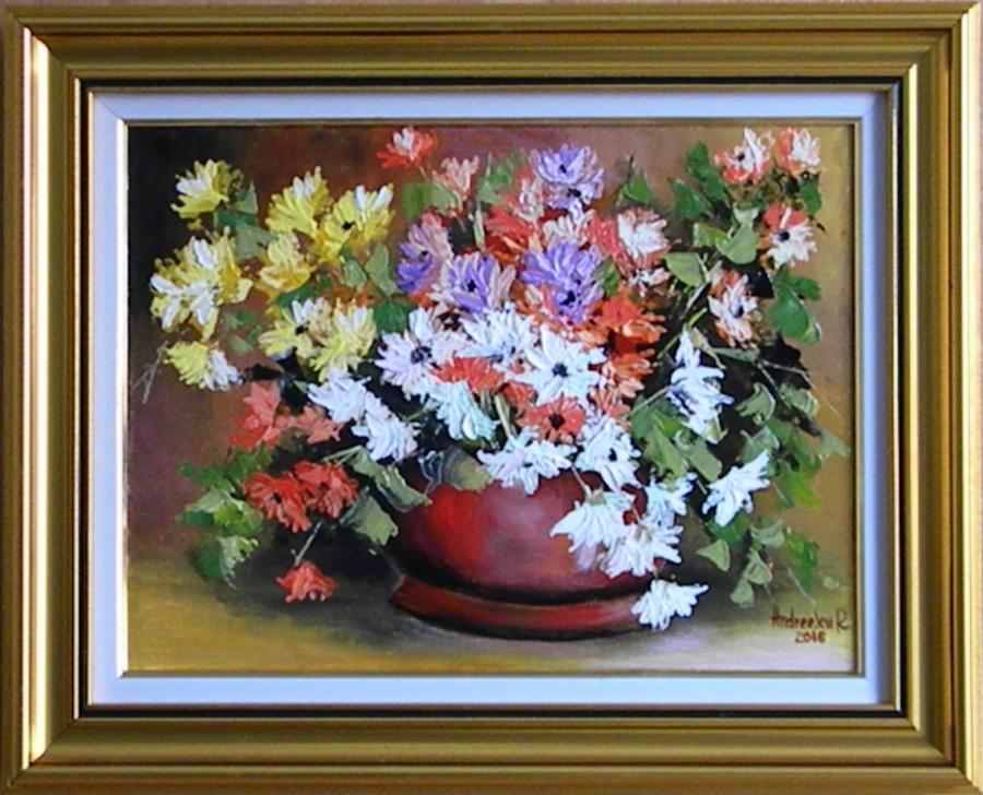Picturi cu flori IN CULORILE TOAMNEI