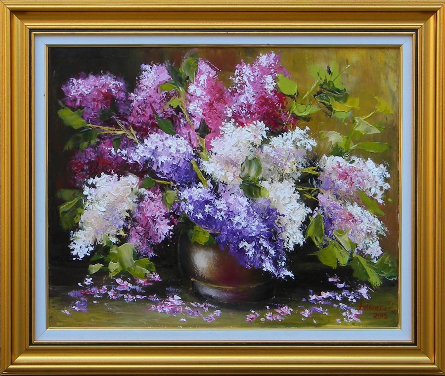 Picturi cu flori IN PARFUM DE LILIAC