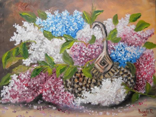 Picturi cu flori Liliac in cos