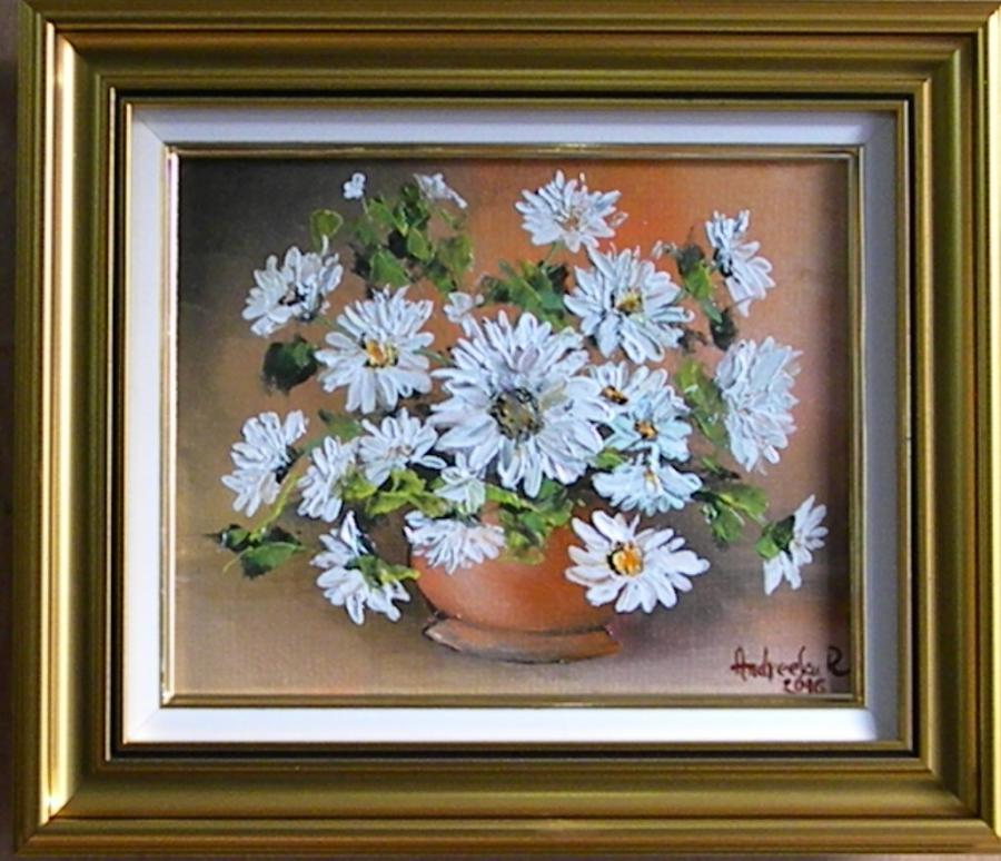 Picturi cu flori MARGARETE IN VAZA 2