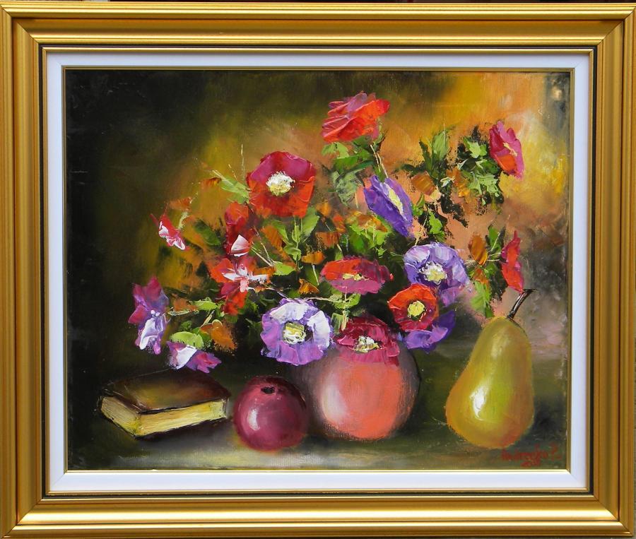 Picturi cu flori SURAS DE FLORI DE TOAMNA
