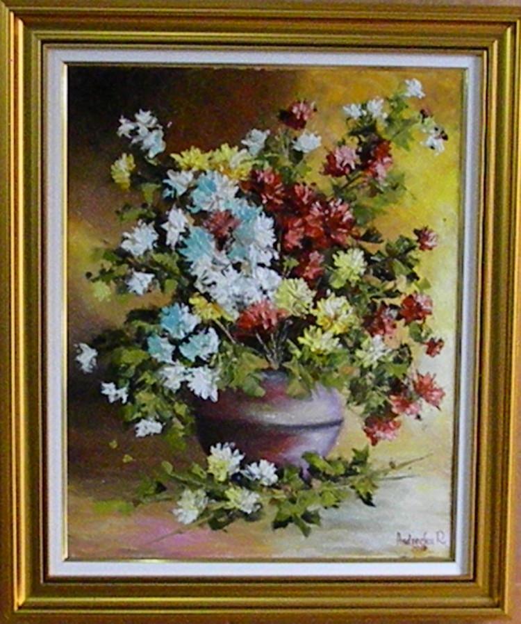 Picturi cu flori TOAMNA FLORILOR