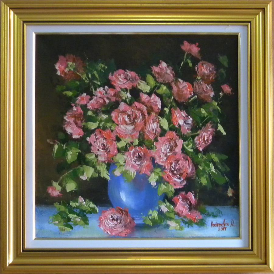 Picturi cu flori ZAMBET DE TRANDAFIRI 2