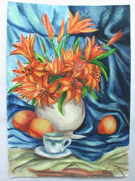 Picturi cu flori Crinii bunicii