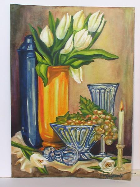Picturi cu flori Natura statica cu lalele