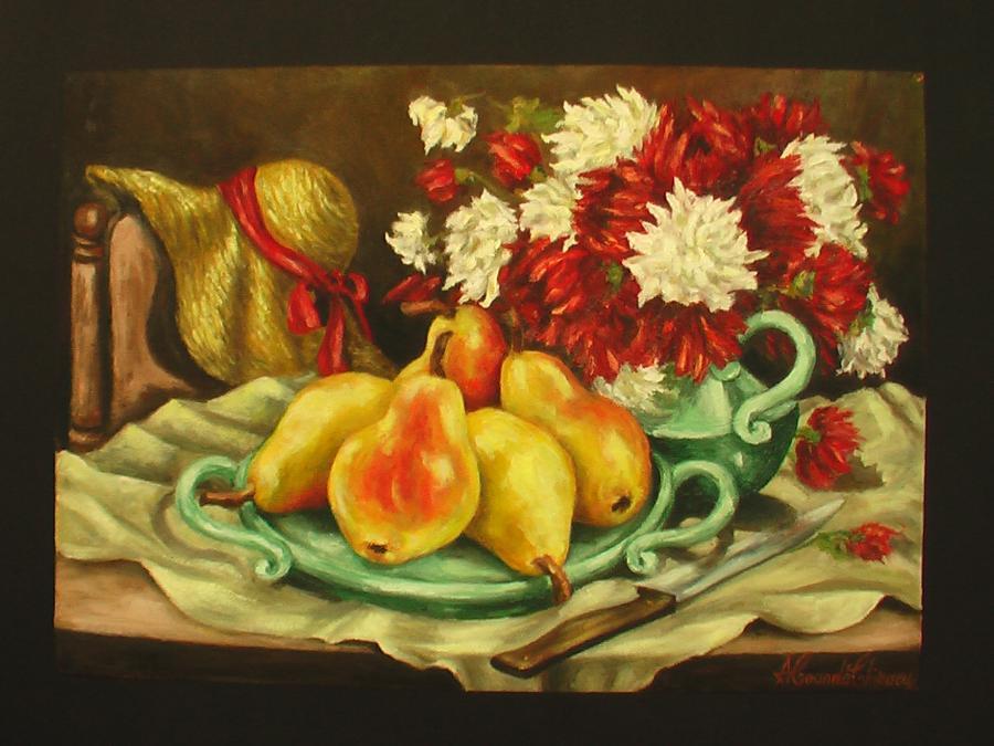 Picturi cu flori tufanele cu pere..