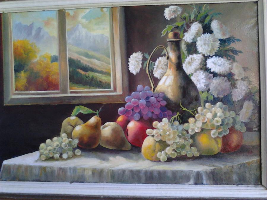 Picturi cu flori bucuria toamnei