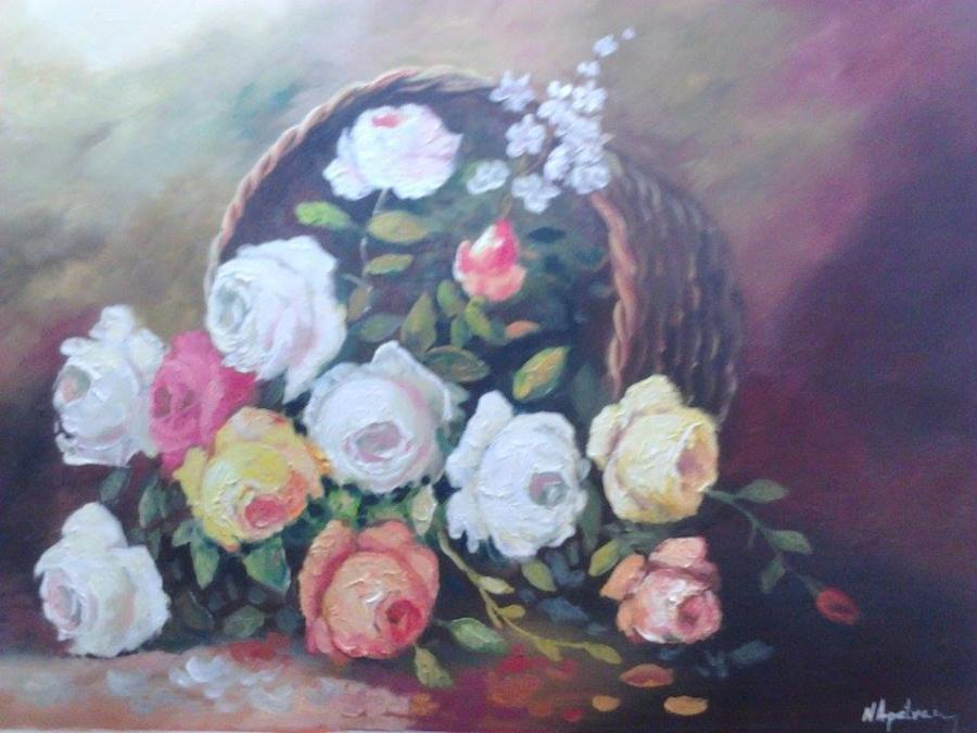 Picturi cu flori Cos rasturnat 0