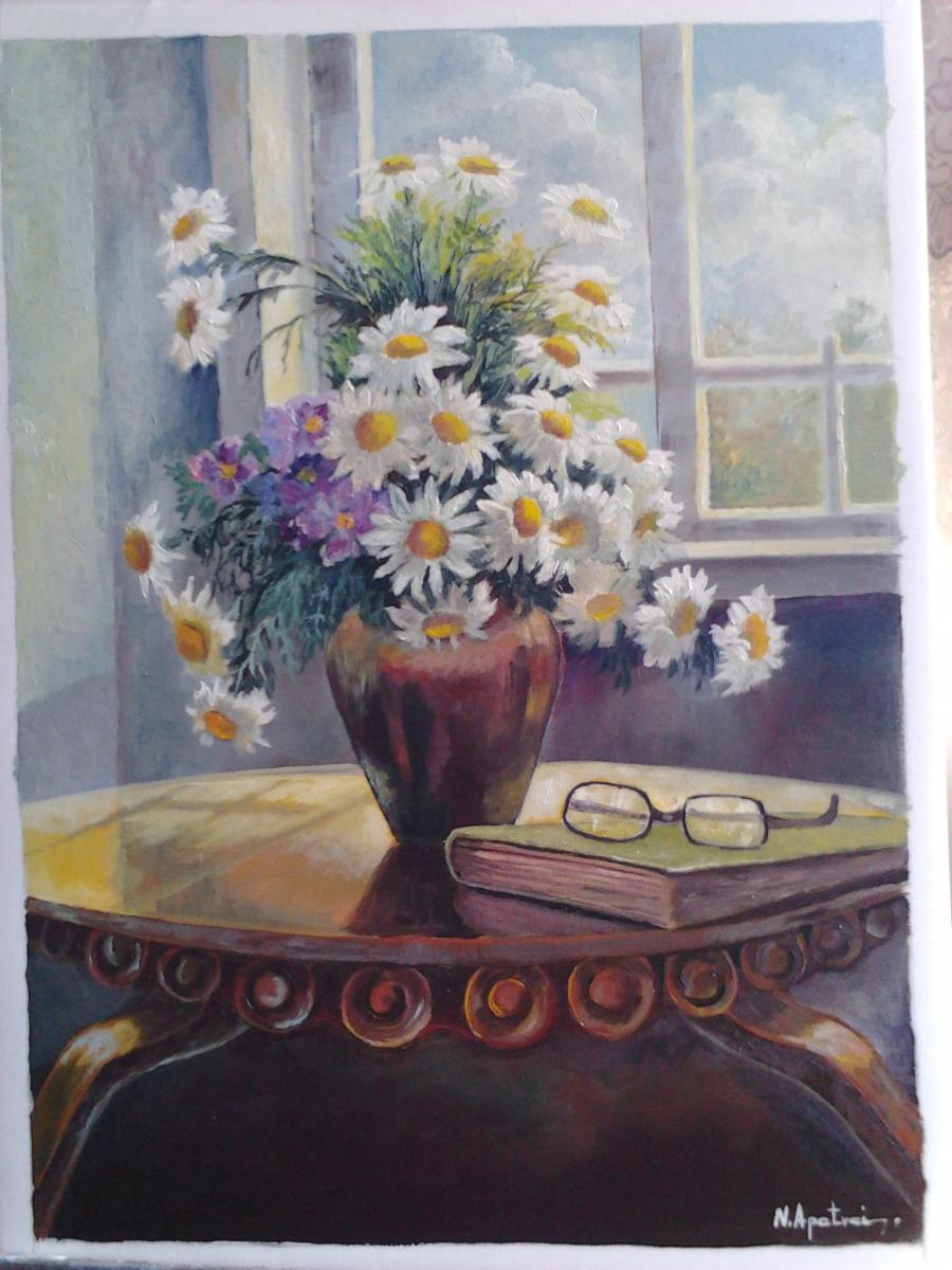 Picturi cu flori Masa studiu