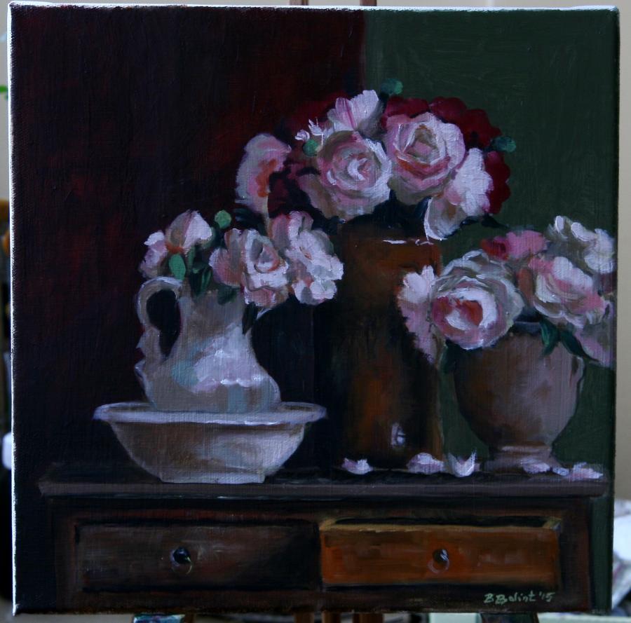 Picturi cu flori Bujori de mai