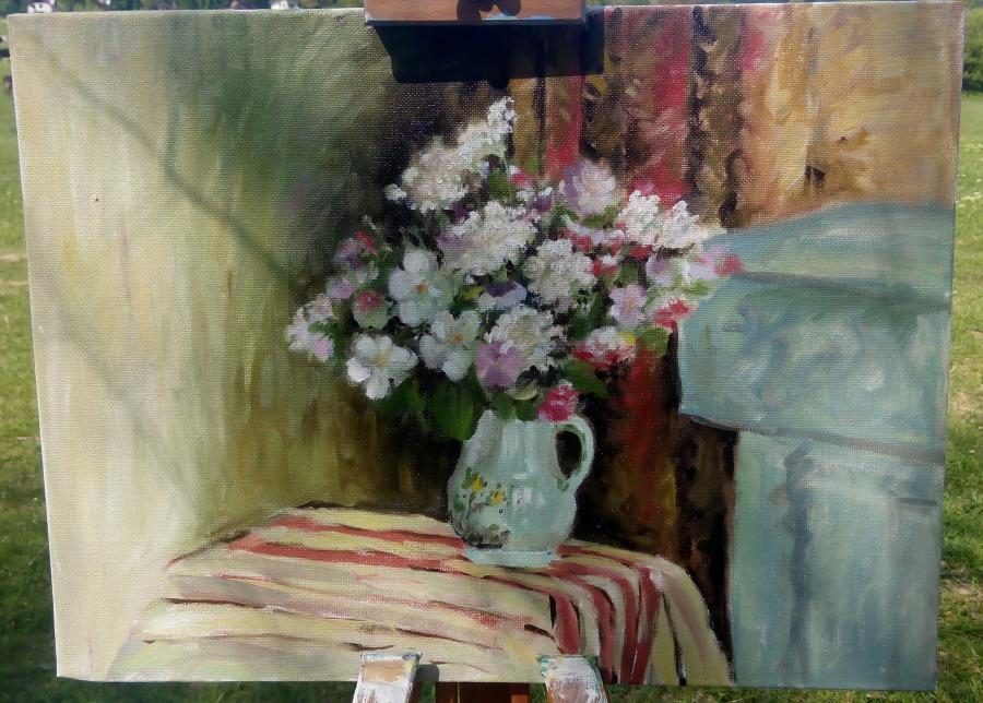 Picturi cu flori Din gradina bunicii