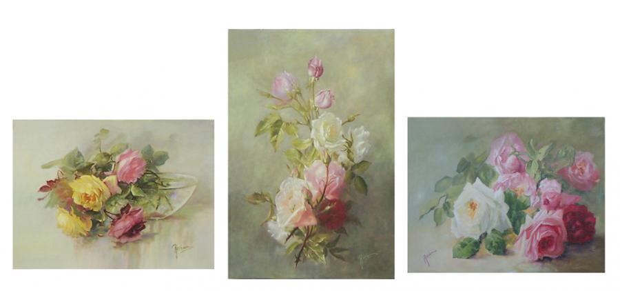 Picturi cu flori Grup de tablouri