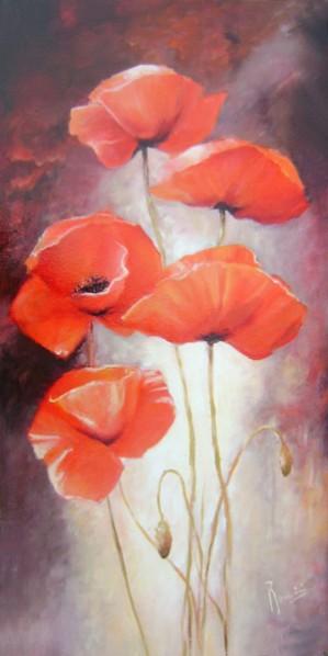 Picturi cu flori Maci a