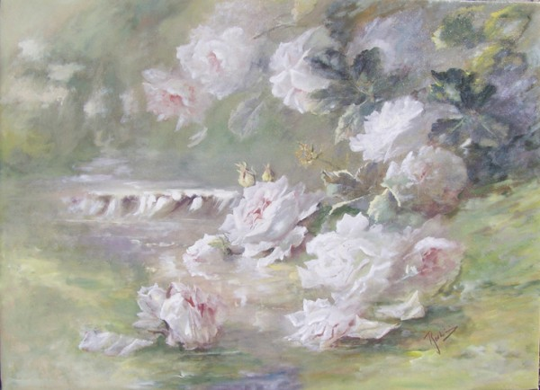 Picturi cu flori Raul de trandafiri