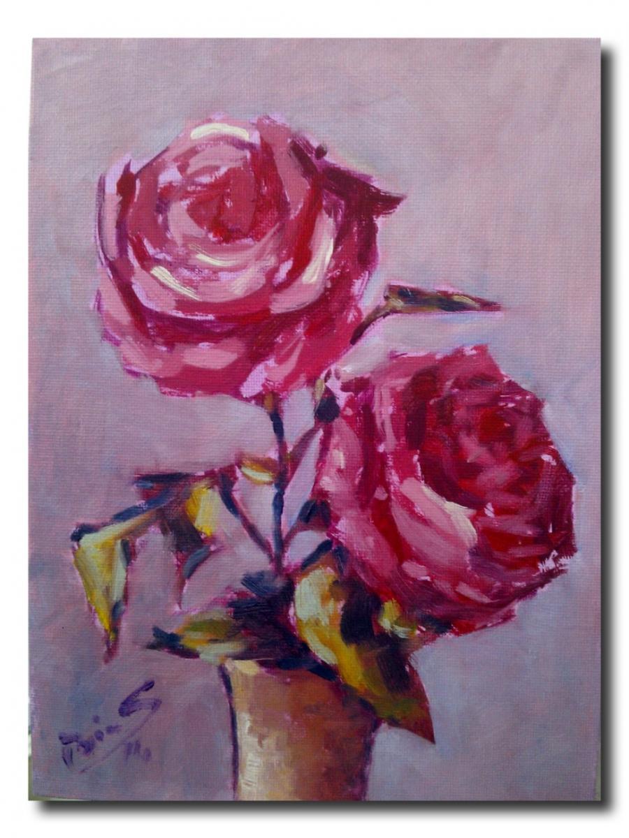 Picturi cu flori trandafiri in floare.