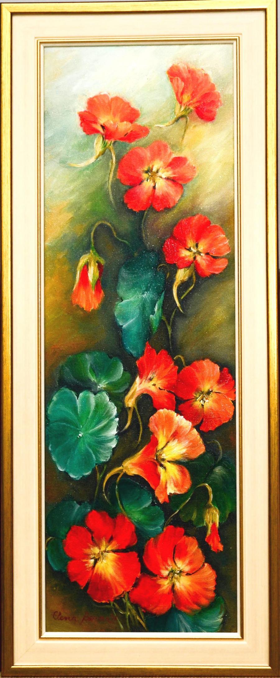Picturi cu flori Condurasi rosii