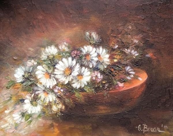 Picturi cu flori Cosulet cu margarete