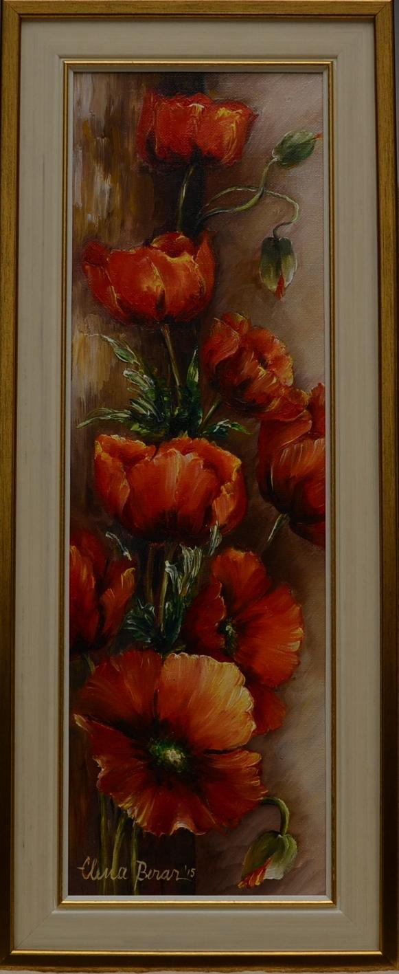 Picturi cu flori Cununa de maci