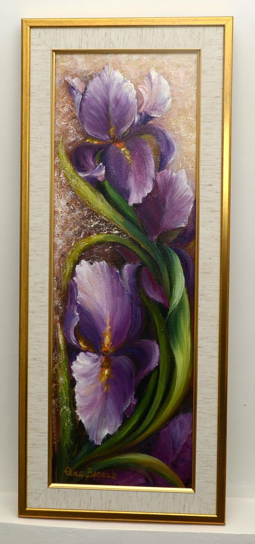 Picturi cu flori Irisi din gradina