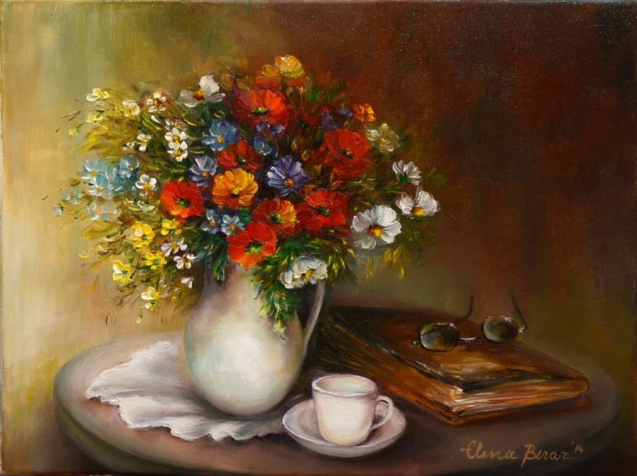 Picturi cu flori Meditatie