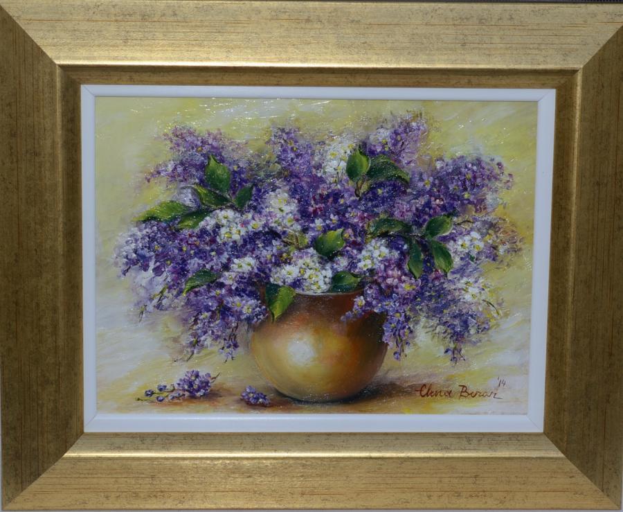 Picturi cu flori Parfum de liliac mov