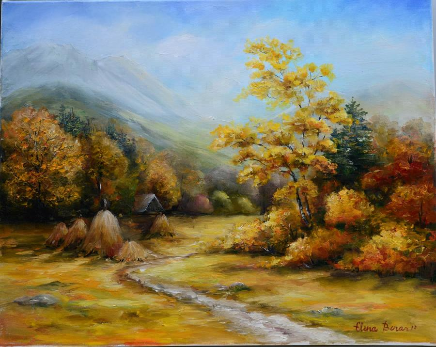 Picturi cu peisaje Toamna la Rasca