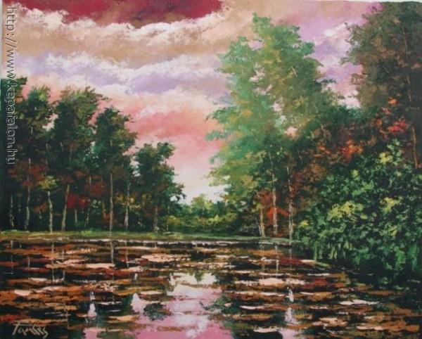 Picturi cu flori Lacul