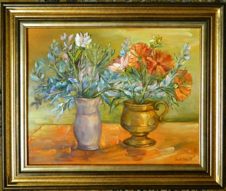 Picturi cu flori ''Compozitie Vase cu Flori''