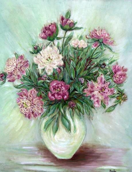 Picturi cu flori Vara.romaneasca.bujori